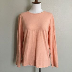 Pure Jill Stretch Cotton crew neck tee coral MP M